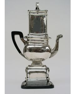 Zilveren filtreerkoffiepot met komfoor, Jacobus Carrenhof, 1830