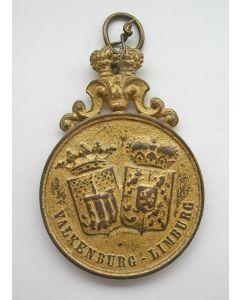 Draagpenning, Limburg gedurende 50 jaar met Nederland verenigd, gevierd in Valkenburg, 1889