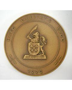 Penning, 350ste gedenkdag van het verblijf van de Pilgrim Fathers in Leiden, 1970.