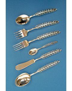 Zesdelige zilveren 'veren-set', ontwerp Gustav Beran, vóór 1960