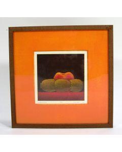 Joop Vegter, 'Perzik en kiwis', mezzotint, 2000