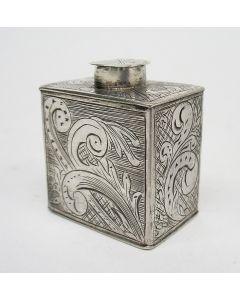 Miniatuur zilveren theebus, 18e eeuw