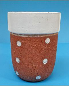 Cris Agterberg, chamotte-aardewerk vaas, uitgevoerd bij Westraven, 1938