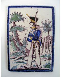 Tegelplaat, Hollandse soldaat, ca. 1815