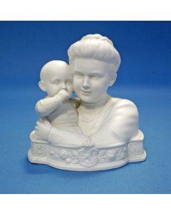 Biscuit beeld, Wilhelmina en Juliana, ca. 1910