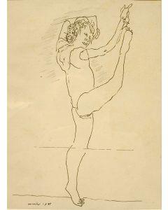 Co Westerik, danseres, pentekening, 1991