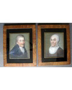 Theodoor Bohres, portretten van het echtpaar Jan Coops en Mechteld Hassels, Doetinchem, ca. 1820