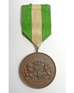 Beloningsmedaille van de Gemeente Rotterdam op naam, verleend voor een redding, 1913