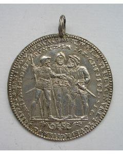 Zwitserland, zilveren Bundestaler met de afbeelding van het Eedgenootschap, ca. 1550