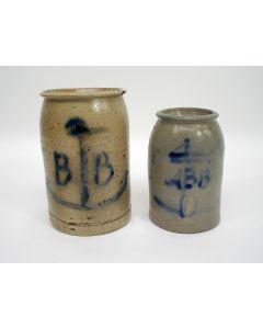 Keuls aardewerk mosterdpotten, 19e eeuw