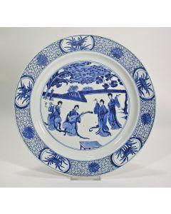 Chinese porseleinen schotel, Kangxi periode.