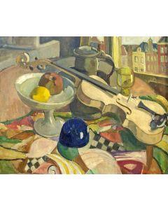 Anna Maria Braakensiek-Dekker, stilleven met viool