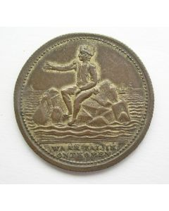 Spotpenning op de verbanning van Napoleon naar St. Helena, 1816