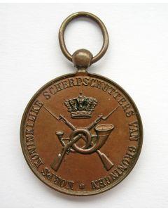 Prijspenning van het Korps Koninklijke Scherpschutters van Groningen [1891]