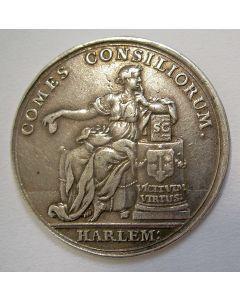 Zilveren vroedschapspenning, Haarlem [1740]