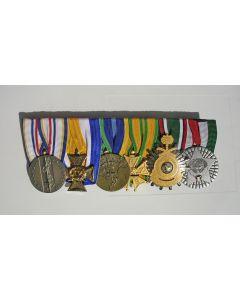 Spang van zes onderscheidingen van een marineofficier, deelnemer aan de Golfoorlog en de bevrijding van Koeweit