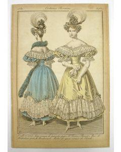 Modeprent uit 'Costumes Parisiens', 1830