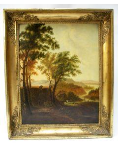 A.D.B., 1827, landschap, paneel
