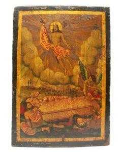 Griekse icoon, Opstanding van Christus, 19e eeuw