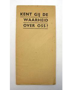 'Kent gij de waarheid over Oss?', brochure door Anton Mussert [1939]