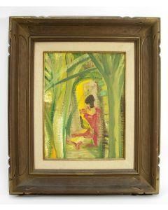 Floris Jespers, 'Afrikaanse vrouw', olieverf