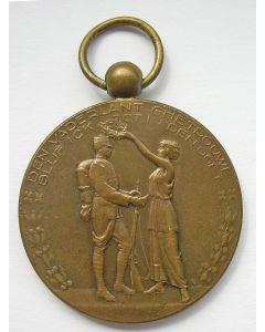 Prijspenning van de Nationale Landstormwedstrijden, 1922. (Ontwerp Willy Sluiter)