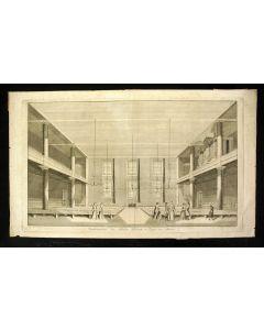 De Vergaderplaats der Broedergemeente te Zeist. Gravure door H. Spilman, 1769