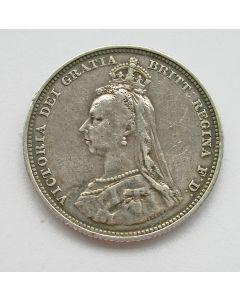 Engeland, 1 shilling 1887