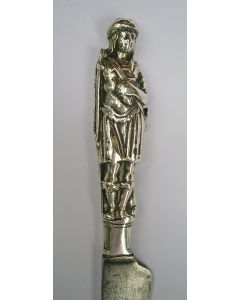 Mes met zilveren heft met een jager, ca. 1700