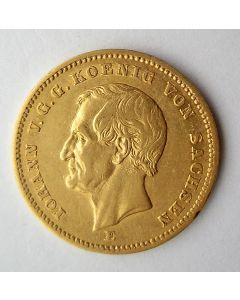 Duitsland (Sachsen), 20 mark 1872