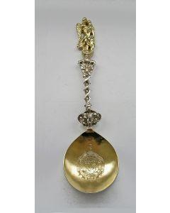 Friese zilveren gelegenheidslepel door Hotse van Sinderen, Dokkum, midden 18e eeuw
