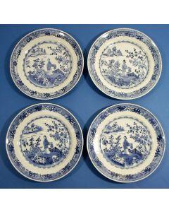 Vier Chinese porseleinen schotels, Qianlong periode