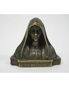Bronzen Mariabeeldje, Art Deco