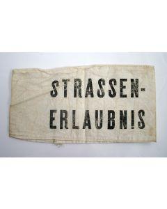 Mouwband, 'Strassenerlaubnis', W.O. II