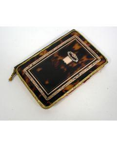 Schildpad notitieboekje met goudinleg, 19e eeuw