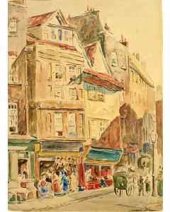 C.A. Bicker Caarten, 'Ludgate Hill, Londen', aquarel, 1886