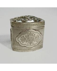 Tinnen mosterdpot, 19e eeuw