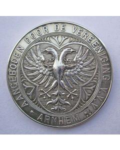 Zilveren penning, Ver. Vreemdelingenverkeer Arnhem, 1890
