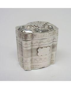 Fries zilveren lodereindoosje,  S.T. Reitsma, Heerenveen/Sneek 1873