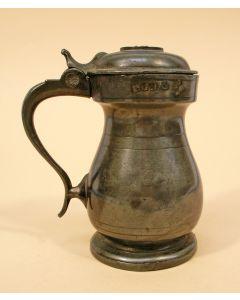 Schots tinnen dekselmaatje, 1 Gill, 19e eeuw.