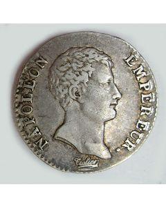 Frankrijk, 1/2  franc zilver, Napoleon, 1806A