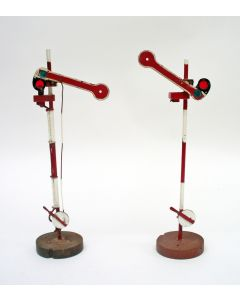 Stel ijzeren speelgoed seinpalen, ca. 1920/30