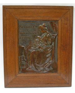 Jan Henri Makkink, Moeder en kind, gedreven plaquette, 1903