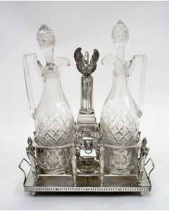 Zilveren olie- en azijnstel, Stephanus de Vos, Breda, 1785