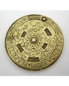 Eeuwigdurende kalender,ca. 1700