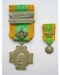 Kruis voor Krijgsverrigtingen met Kroon voor Bijzondere Verrichtingen en gespen, Zuid-Celebes en Atjeh, met miniatuur