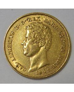 Italië (Sardinië), 20 lire 1849