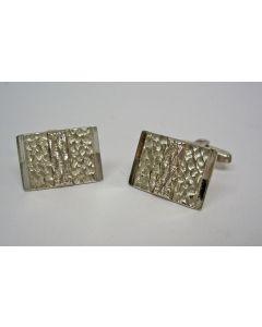 Modernistische zilveren manchetknopen