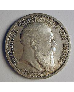 Duitsland, Baden, 2 mark 1907, overlijden Friedrich I