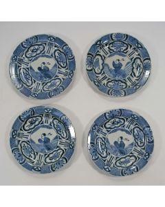 4 Japanse Arita porseleinen borden, ca. 1700
